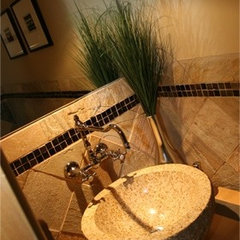 mediterranean bathroom by Chimera Interior Design