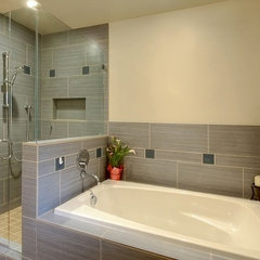 contemporary bathroom by Logan's Hammer Building & Renovation