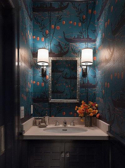 Неоклассика Ванная комната by Ann Lowengart Interiors