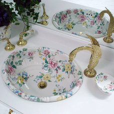 Traditional Bathroom by Decorated Porcelain Company