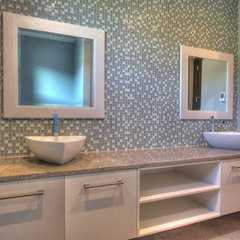 contemporary bathroom by Chrissy Hlakty