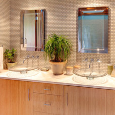Midcentury Bathroom by Genesis Architecture, LLC.