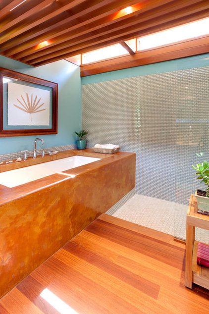 contemporary bathroom by Genesis Architecture, LLC.