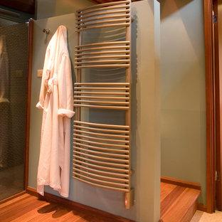 Bathroom - midcentury modern bathroom idea in Milwaukee