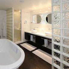 Modern Bathroom by Christy Branson