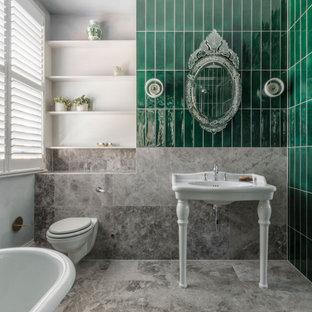 Design ideas for a classic bathroom in London.
