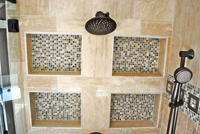 Mediterranean Bathroom by Berry Design Build