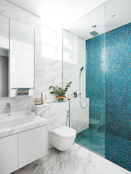 bathroom floor tiles singapore volakas marble ideas amp photos houzz 15934