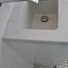 Transitional Bathroom by Elaine M. Rushlow C.K.D.