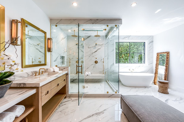 Transitional Bathroom by Extreme Developers, Inc