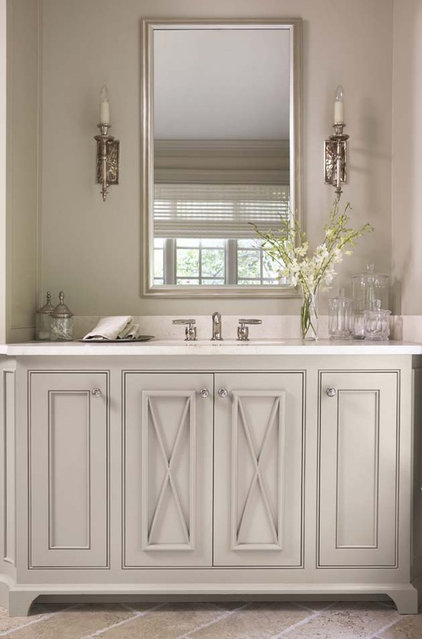 Transitional Bathroom by Linda McDougald Design | Postcard from Paris Home