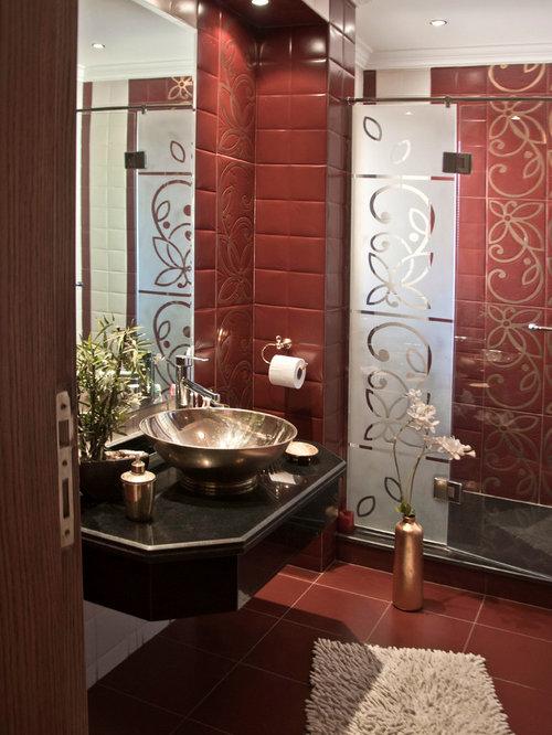 Badezimmer Kolonialstil kolonialstil badezimmer mit roten fliesen ideen design beispiele