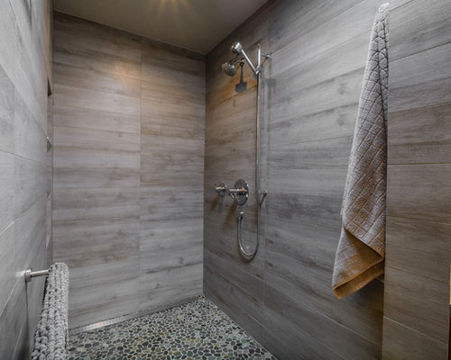 Tile bathroom walls