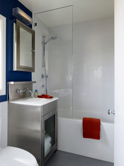 Small Subway Tile Alluring Small Subway Tile  Houzz Design Ideas