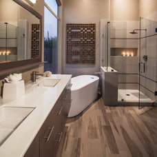 transitional bathroom by Identity Construction