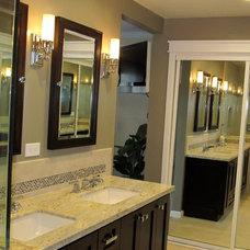 Craftsman Bathroom by Karen Herrick Design