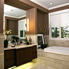 Transitional Bathroom by Crest Homes RE & Building Co., LLC