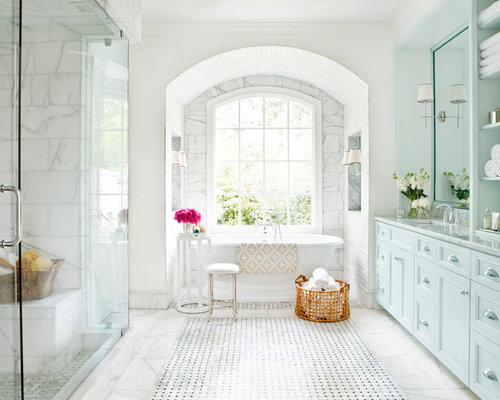 basket weave marble tile ideas, pictures, remodel and decor,
