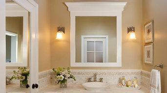 Classic bath vanity with lots of storage