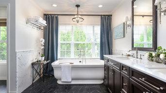 Classic Glamourous Master Bath Sammamish