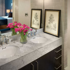 Transitional Bathroom by Kenneth Brown Design