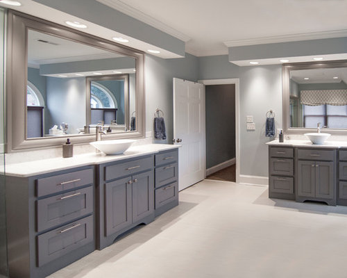 Grey Cabinets Blue Walls Ideas Pictures Remodel And Decor