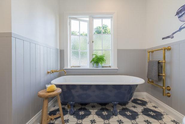 Transitional Bathroom by Du Bois Design Ltd