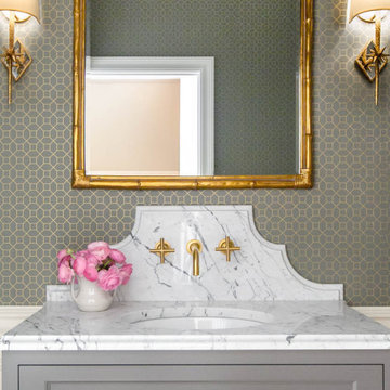 Classic Powder Bathroom Remodel