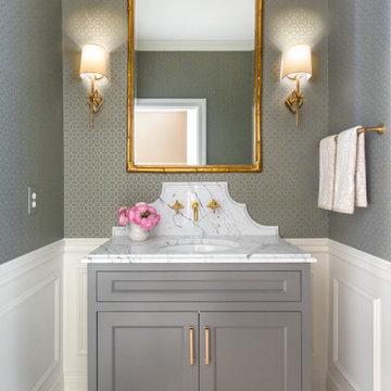Classic Powder Bathroom Remodel