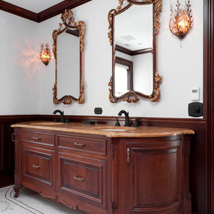 Example of a classic mosaic tile bathroom design in New York