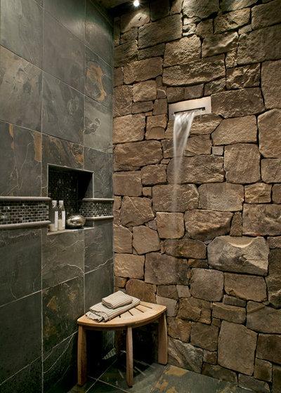 Rustic Bathroom by Tyner Construction Co Inc