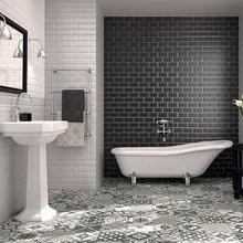 Moorish Bathroom Tiles Take the Floor