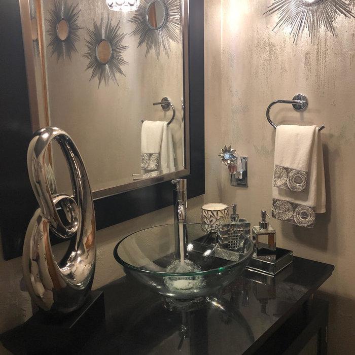 Glamours Powder Room Renovation