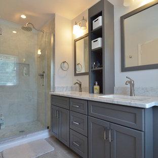 Classic White and Gray Bathroom Renovation