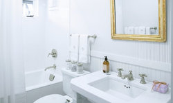 Classic White Powder Room