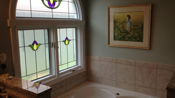 Classical Bathroom Window Glass Inserts
