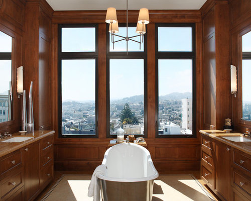 Inspiration For A Transitional Freestanding Bathtub Remodel In San Francisco