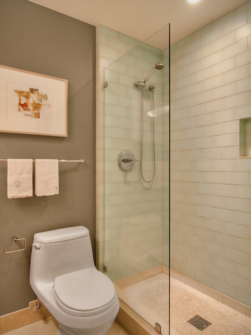 Inspiration for a contemporary subway tile bathroom remodel in Seattle
