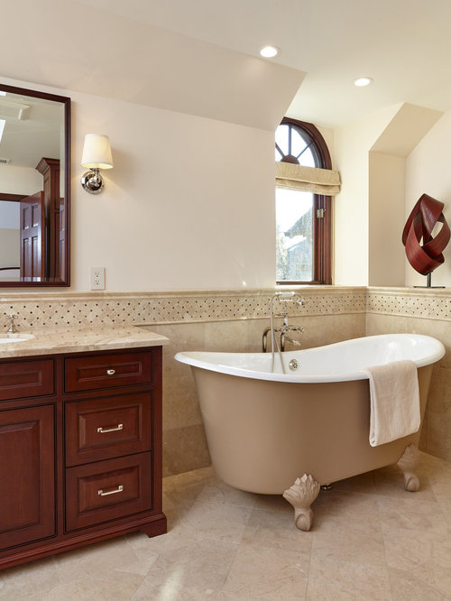 3 000 traditional bathroom with a claw foot tub design for Bathroom remodel 3000