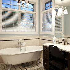 Craftsman Bathroom by Habitat Studio