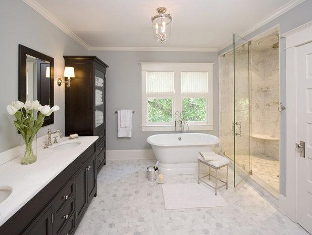 American Traditional Bathroom by Clawson Architects, LLC
