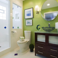 Contemporary Bathroom by Suzan J Designs - Decorating Den Interiors