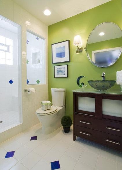 Contemporary Bathroom by Suzan J Designs - Decorating Den Interiors