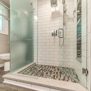 Clean, Sharp, and Warm Master Bath