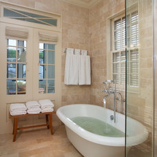 Traditional Bathroom by TY LARKINS INTERIORS