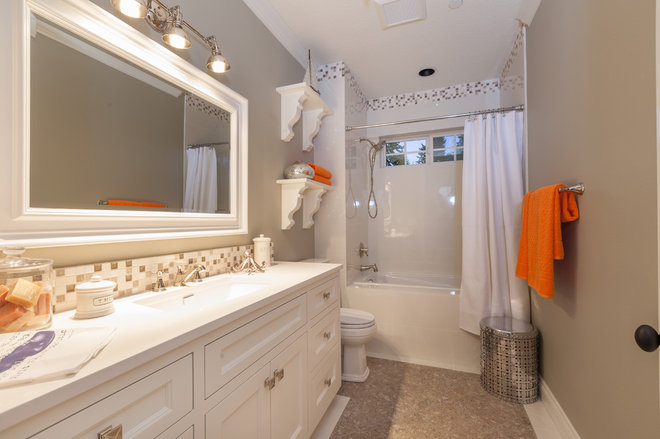 Traditional Bathroom by Jamie Sixberry at Paulson's