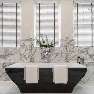 Inspiration for a traditional bathroom in Berkshire with a freestanding bath.