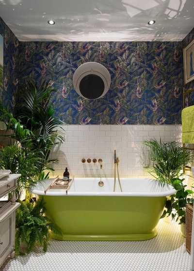 Eclectic Bathroom by Alexander Owen Architecture