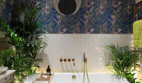 10 badrum som svämmar över av färg