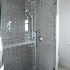 Transitional Bathroom by Enviable Designs Inc.